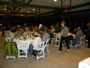 Christmas Bird Count Dinner feeding the volunteers